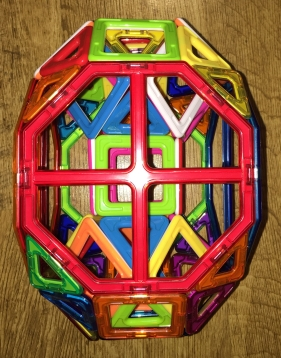 A Tunnelled Biaugmented Truncated Cube (from above)